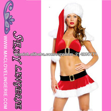 ML8036 El último diseño de la mujer traje de Santa para la Navidad