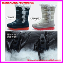 2015 Winter Waterproof Half Boots Lady Genuine Leather Snow Boots Non Slip Rubber Sole