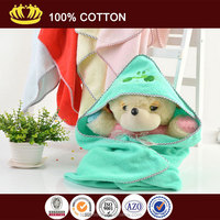 2014 hote sale cotton baby hooded towels with customized animal logo embroidery