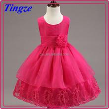New design wholesale big bowknot vintage style boutique girls princess party dresses 2015 TR-WS27