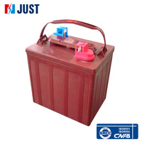 Factory wholesale 12v 180ah deep cycle rechargeable golf cart battery