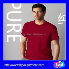 Venta al por mayor 100 algodón rojo camisetas manga corta t-shirt blanco hombres ropa compra a granel de china