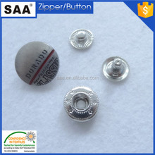 Factory wholesale metal snap button for garment