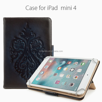 2016 new products leather wallet tablet case for ipad mini 4