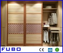 wooden almirah designs in bedroom with mirror