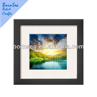 sunrise light scenery digital picture printing wall painting with photo frame