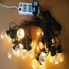 24V G50 bulb LED Festoon belt light ,LED Ball light string Outdoor Christmas Decorative Fairy Lights