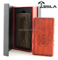 Most popular products on the market strong output wattage tc mod 120 watt tesla box mod, Genuine tesla 120w wood box mod