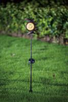 Outdoor solar iron stick moon shape light
