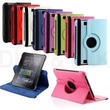 """360 Degree Rotating Leather Case Cover Stand for Amazon Kindle 7"""" 7 inch Fire HD"""