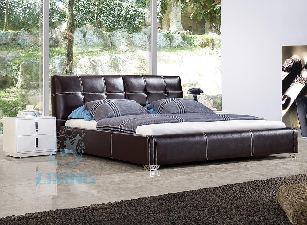 lecong meubles unique design grand taille de luxe en cuir lit literie id de produit 1447958764. Black Bedroom Furniture Sets. Home Design Ideas