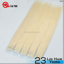 Premium Quality Super Tape Brand Name wholesale double drawn cheap remy hair extensions tape method