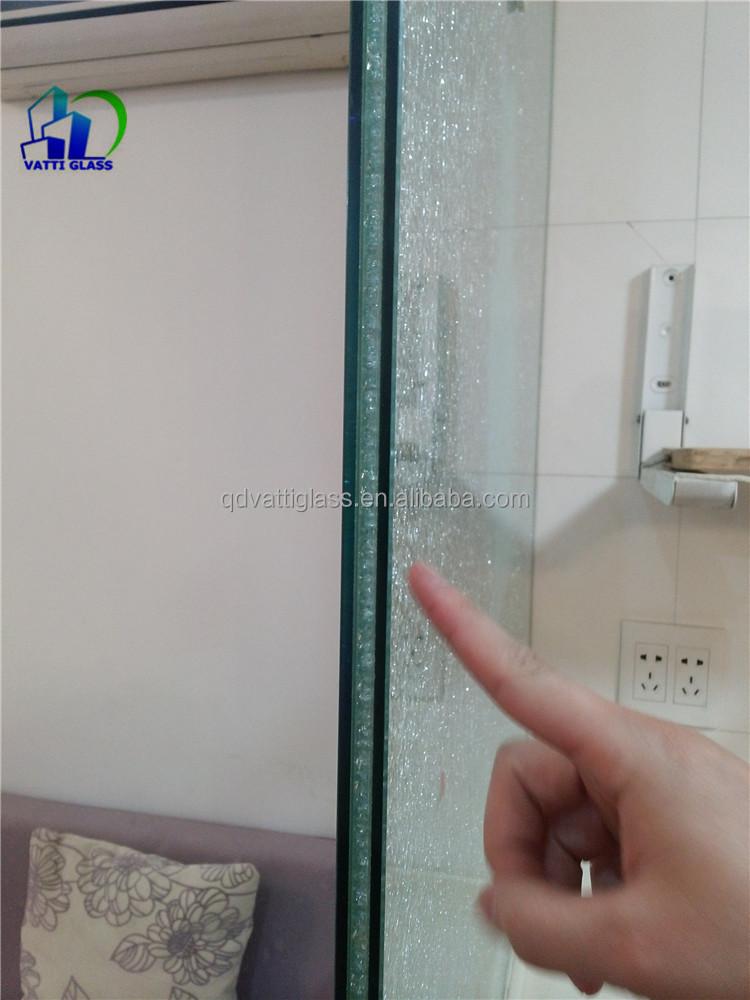 High Quality Crashed White Laminated Glass Decorative Cracked