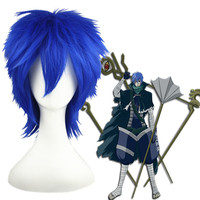 wholesale 32CM Blue VOCALOID kaito cosplay artificial wig