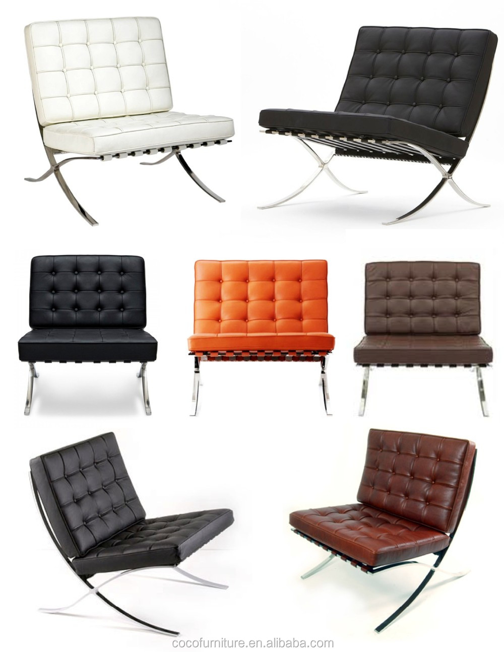 Barcelone chaise avec pouf barcelone table barcelone canap chaises de salo - Capitonner un fauteuil ...