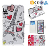 Accpet Small Order Romantic Tower Flip PU Wallet Leather Cover Case For K-Touch U90