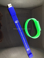 Cheap customized logo usb flash drive bracelets
