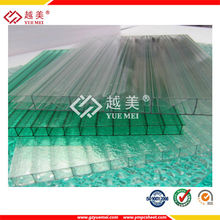Plástico transparente hueco de la pared doble lámina de policarbonato