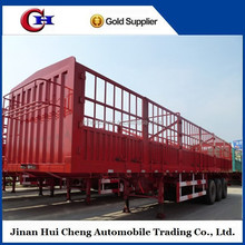 fence semi trailer tractor with leaf spring suspension