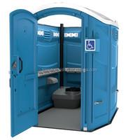 Rotomolding wheelchair accessible portable toilet
