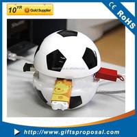 Cute Football USB 2.0 4 Port Data Transfer Hub/USB Hub