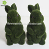 Lovely artificial grass animal real touch moss rabbit fake green grass rabbit for decoration