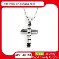wholesale jewelry set black cross pendant stainless steel pendant crosses for men