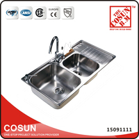 Stainless Steel Country Dual Kitchen Sink Utility