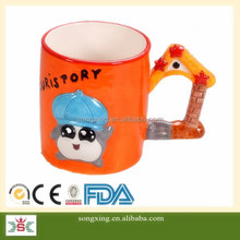 hot selling gifts for kid hand painting creactive colourful coffee mug