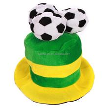 Venta al por mayor del fútbol mans fieltro de lana altos sombreros de copa vuelos-para party hat QHAT-1958
