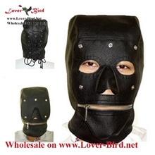 mask face mask leather mask black