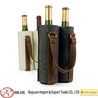 2015 popular easy carrying felt wine bag with durable handle