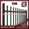 decorative metal garden fence, prefabricated metal picket fence
