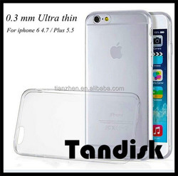 Cheap Cell Phone Silicon cases 0.3mm Slim Clear Soft TPU Case for Phone 6 4.7 inch