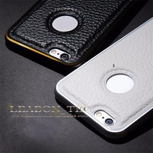 China Alibaba real leather back cover case for iPhone 6,iCase phone6 case for iphone6/Special design phone case