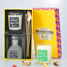Home Air Freshener Fragrance Oil/ Soy Wax Candle Set/ Candle Diffuser Set