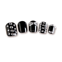 3D style black beautiful artificial acrylic nail tips, finger art nails