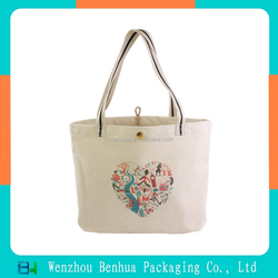 Custom hot stamping trade show canvas tote bag