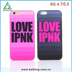 Plastic back cover For iPhone 6 love pink case/ Pink case for iPhone 6 6 Plus