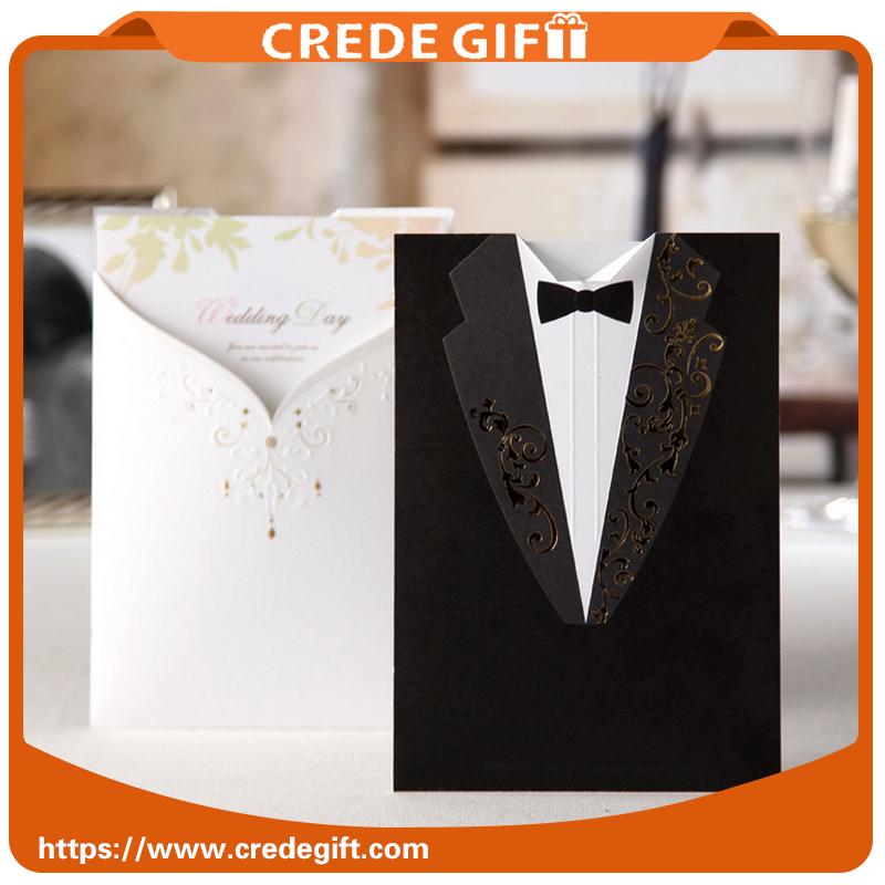 패션 사용자 정의 성격 결혼 기념일 인사말 카드 창조적 신부 및 신랑 결혼식 초대장 판매
