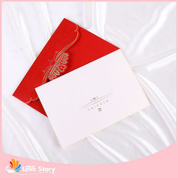 Hot Sale Cute Bride And Groom Wedding Invitation Card Price