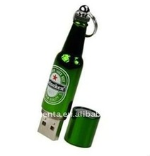 red wine and beer bottle shape usb flash drive customized logo