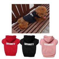 2015 On Sell Pet Dog Warm Fleece Clothes Jumpsuit Security Puppy Hoodies Dress Coat Size XS-XL 3 Colors