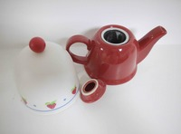 high quality ceramic tea pot with warm plastic lid
