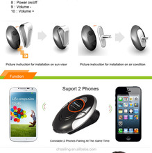 sun visor bluetooth car handsfree kit for music play and answering calls