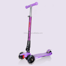 New product foldable big wheel child push scooter 4 wheel kids scooter