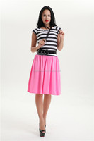Walson instyles copyright Rock N Roll Sweetheart 50s 60s Grease Pink Stripe Women Costume