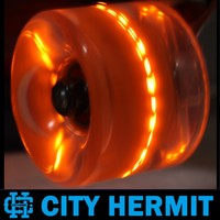 CITY HERMIT 2015 New Design factory custom skateboard glow wheels