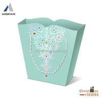 Light Blue Paper Christmas Packaging Bag