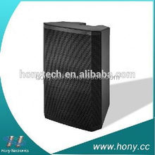 DJ Stage speaker, amplifier box loudspeakers with disco lights for parties, USB, SD jack, bluetooth, FM radio, remote